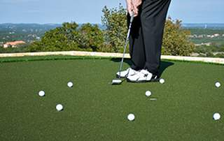 three feet putting drill