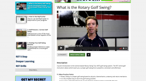 The Rotary Swing System is the oldest part of the membership site.